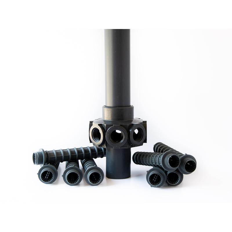 Komplett stigarrör med dysor för filter 500 mm