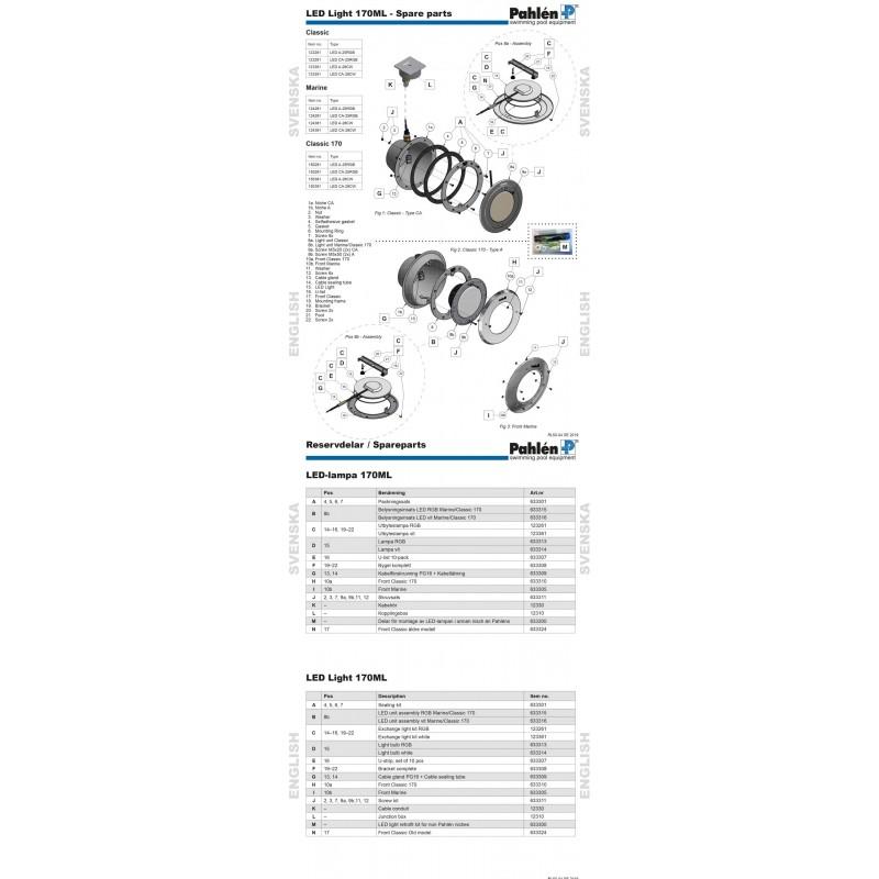 Lampsats 170ML-28CW