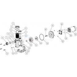 Axeltätning Astral pump